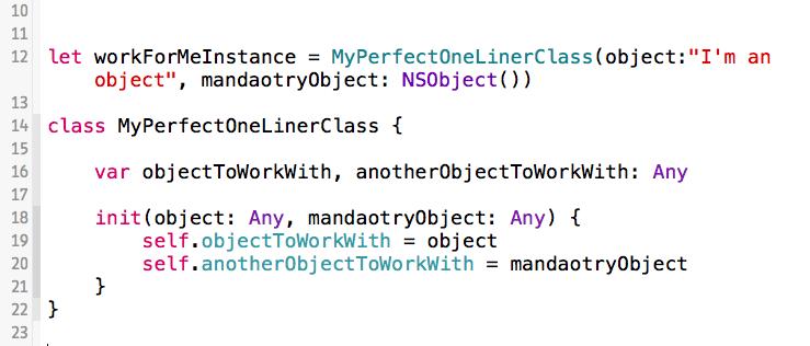 MyPerfectOneLinerClass