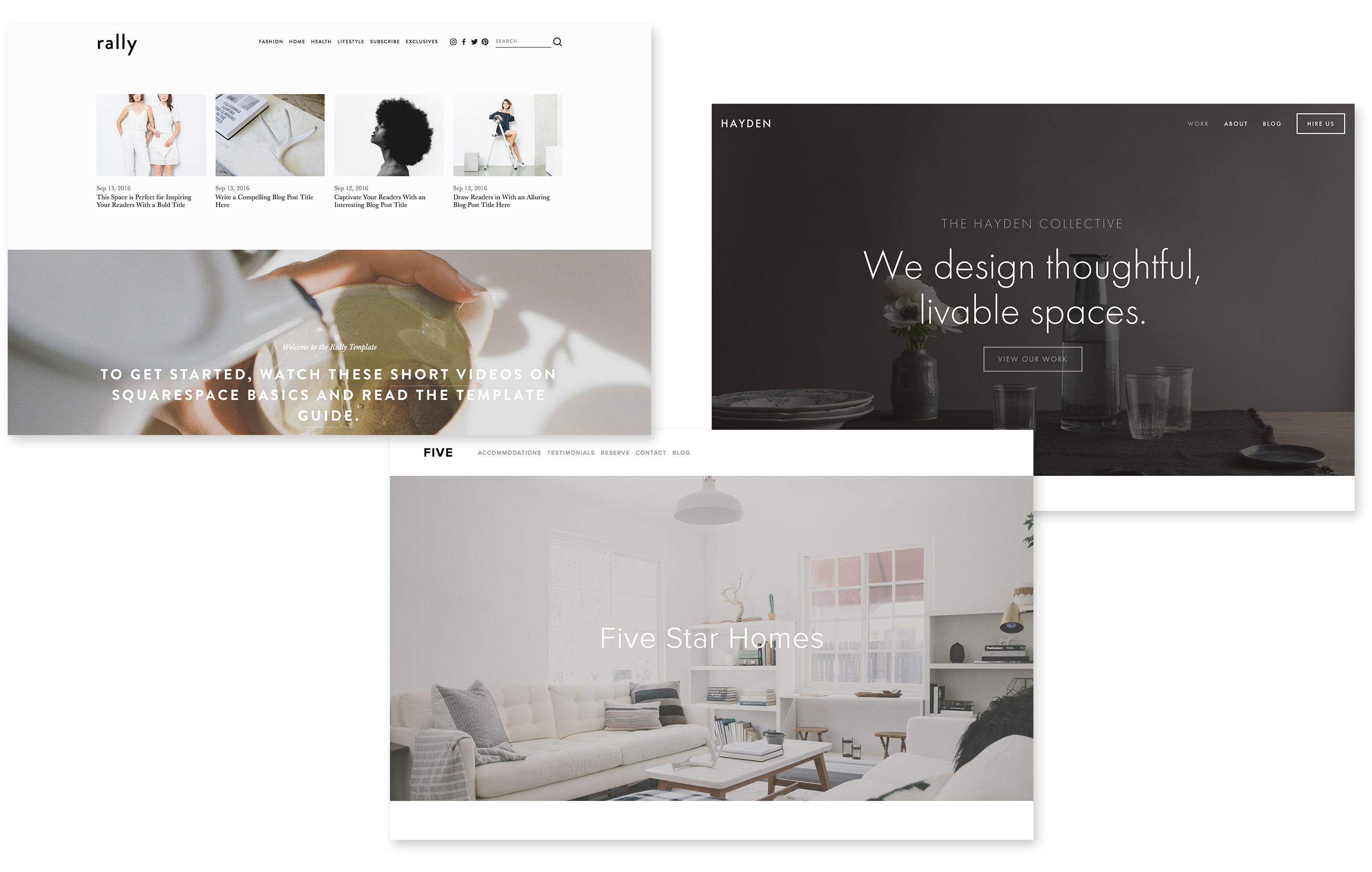 Behold, every single template in 2017 - Squarespace templates
