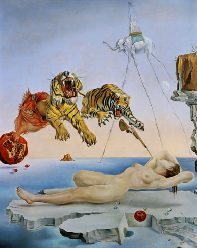 1944 / Dream Caused by the Flight of a Bee around a Pomegranate a Second Before Awakening by Salvador Dalí / Surrealism