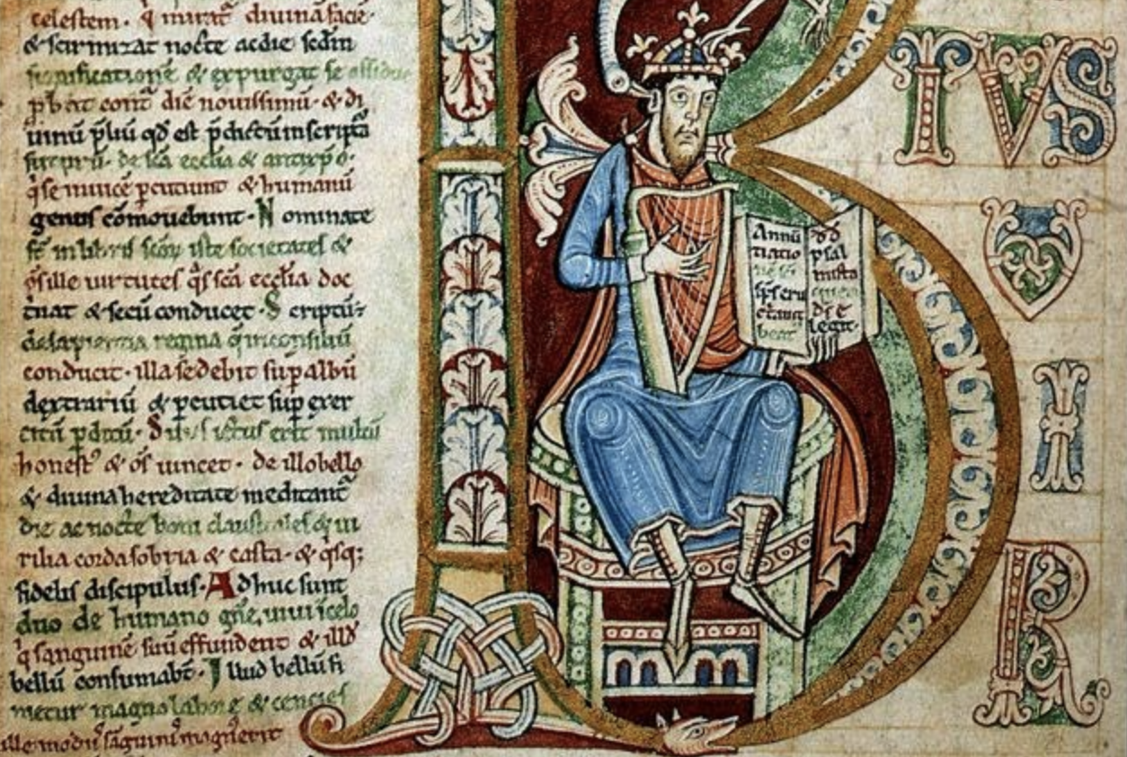 Example of an illuminated manuscript