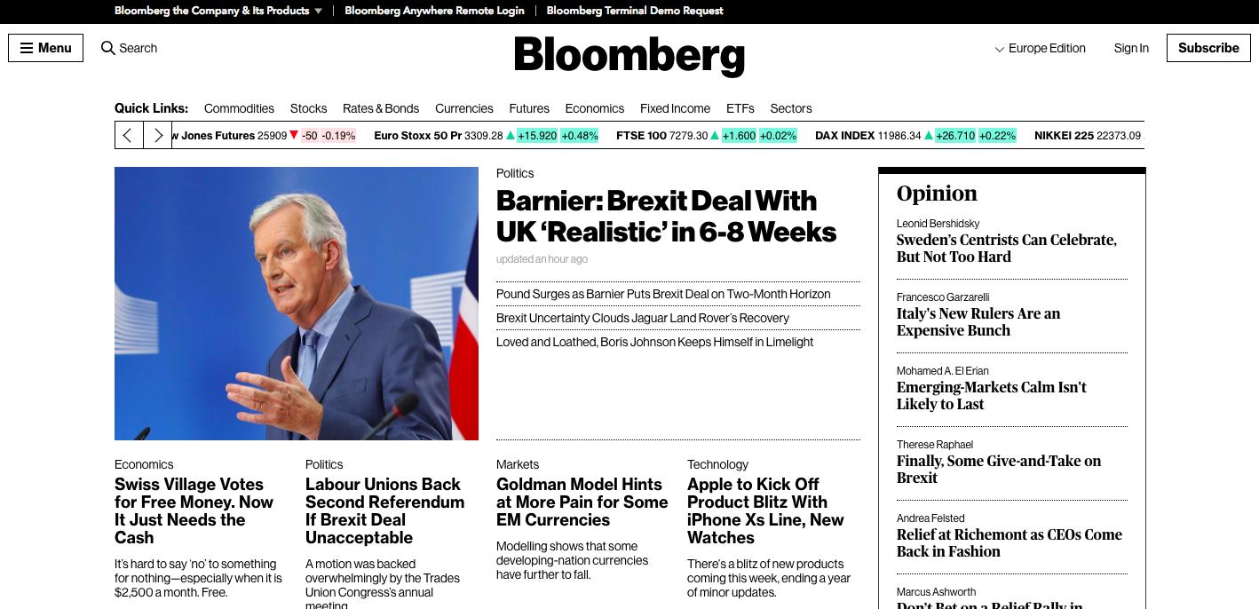 Bloomberg Website (2018)