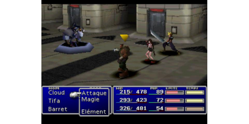 Final Fantasy VII Battle Interface