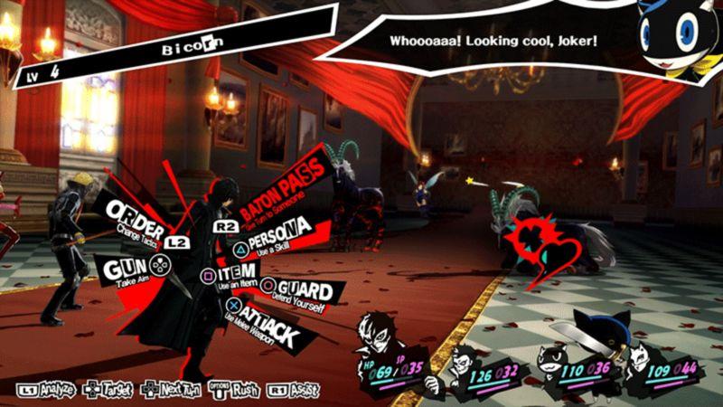 Persona 5 Battle Interface