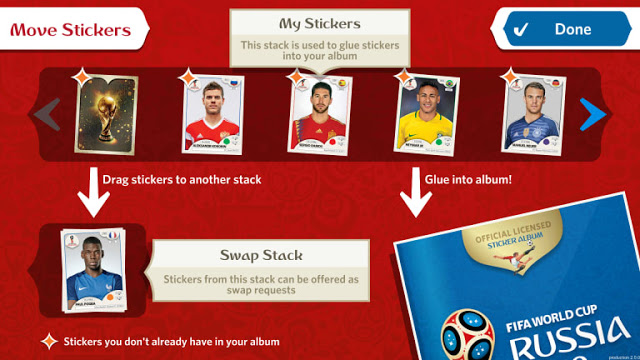 Panini World Cup 2018 online sticker album