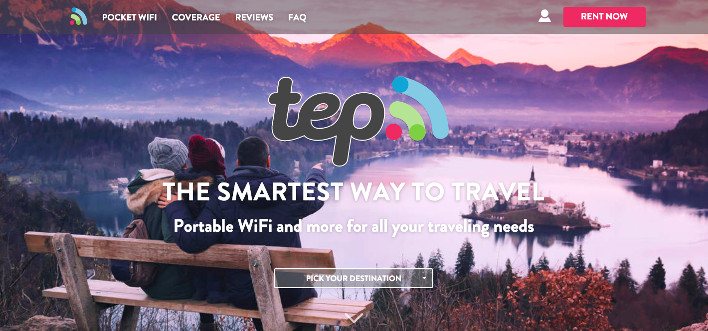 TEP Wireless website homepage