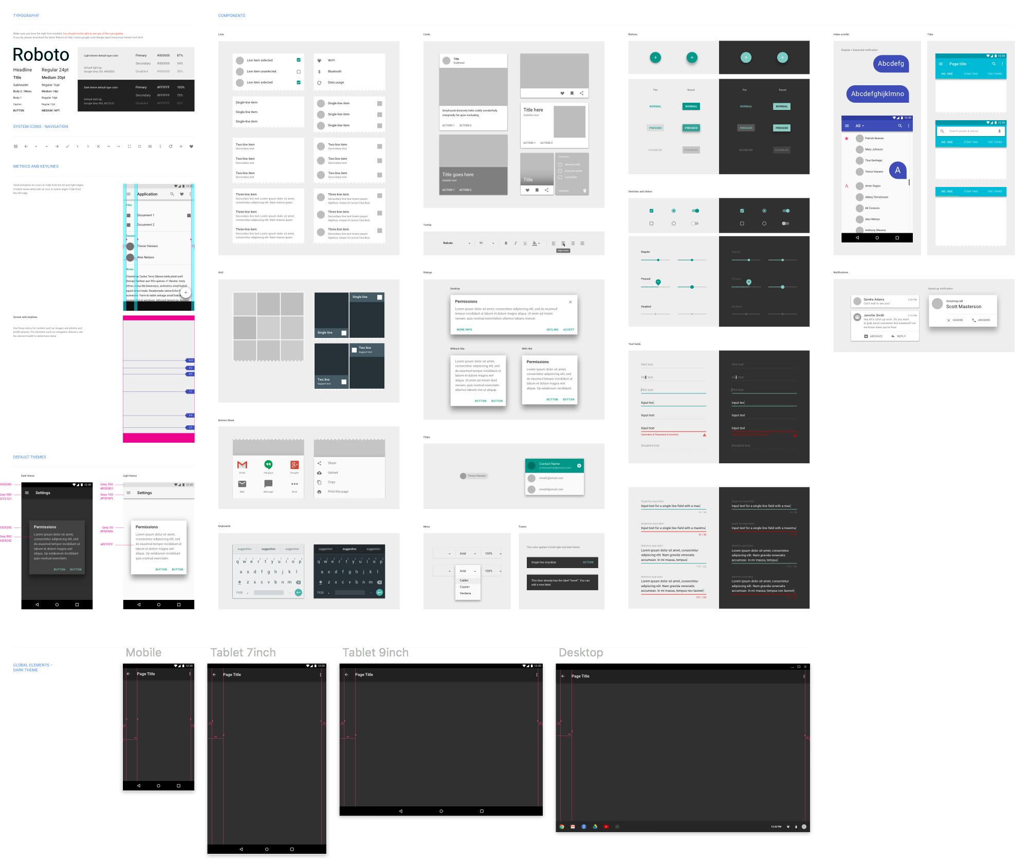 Google Material Design UI (sketchappsources.com)