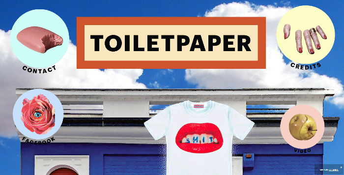 Toilet Paper Magazine site