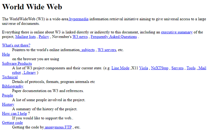 The World First Website 1991
