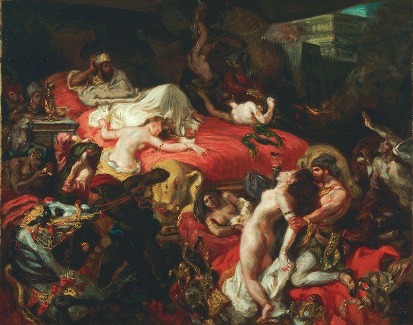 1827 / Death of Sardanapalus by Delacroix