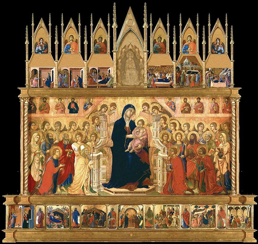 1308 - 1311 / Maestà altarpiece, Siena Cathedral