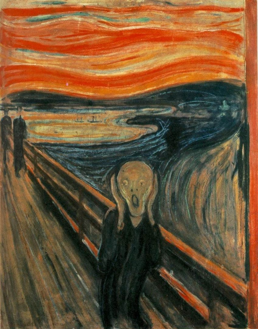 1893 / THE SCREAM BY EDVARD MUNCH / EXPRESSIONISM