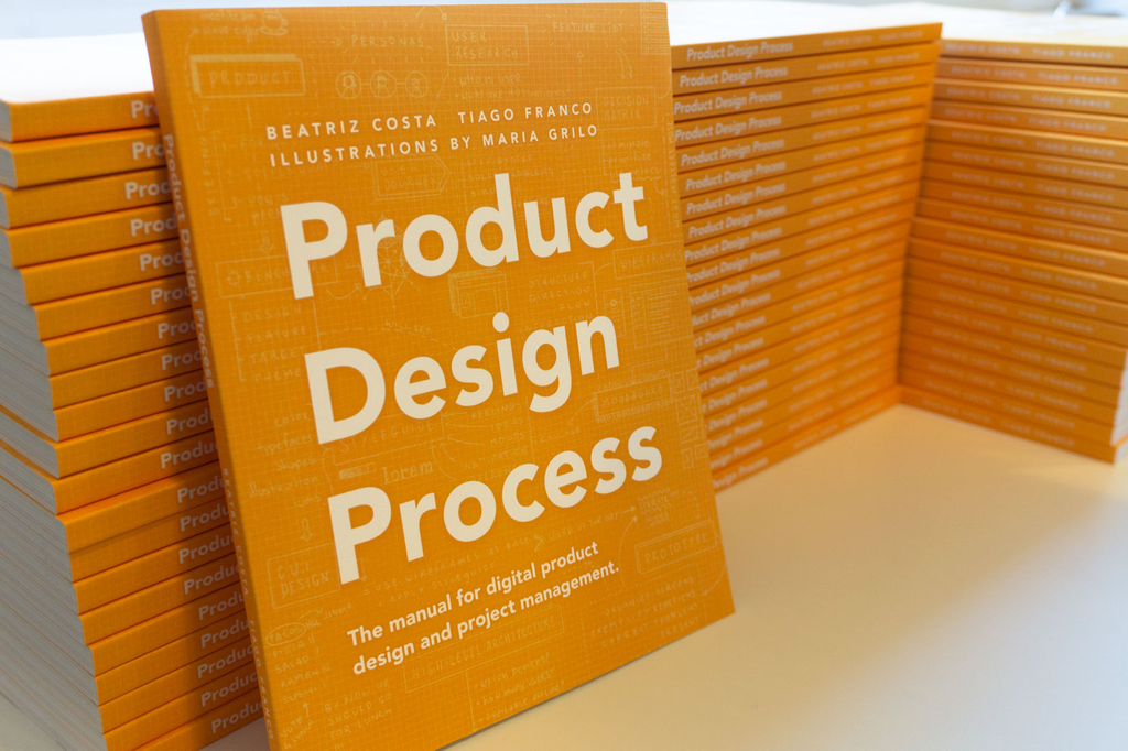 Cover from the book Product Design Process by Beatriz Costa and Tiago Franco
