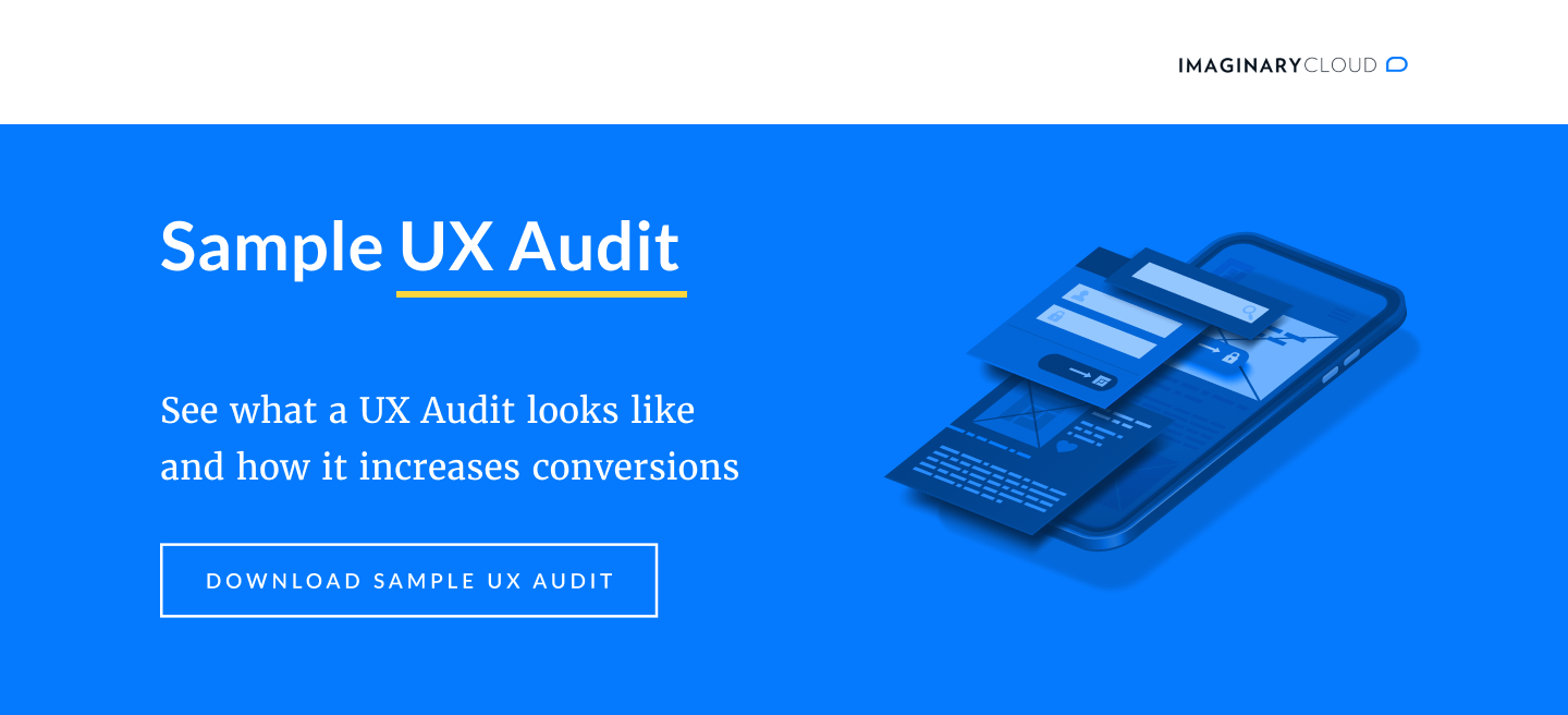 Download our Sample UX Audit and see how you can grow your revenue