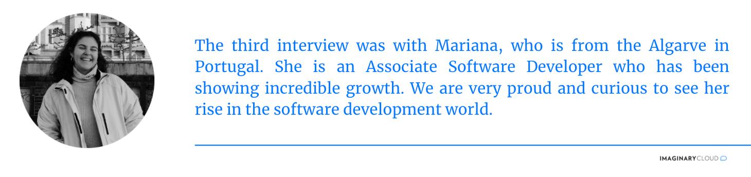 Interview 3 - Mariana