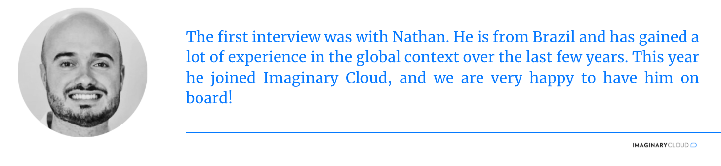 Interview 1 - Nathan